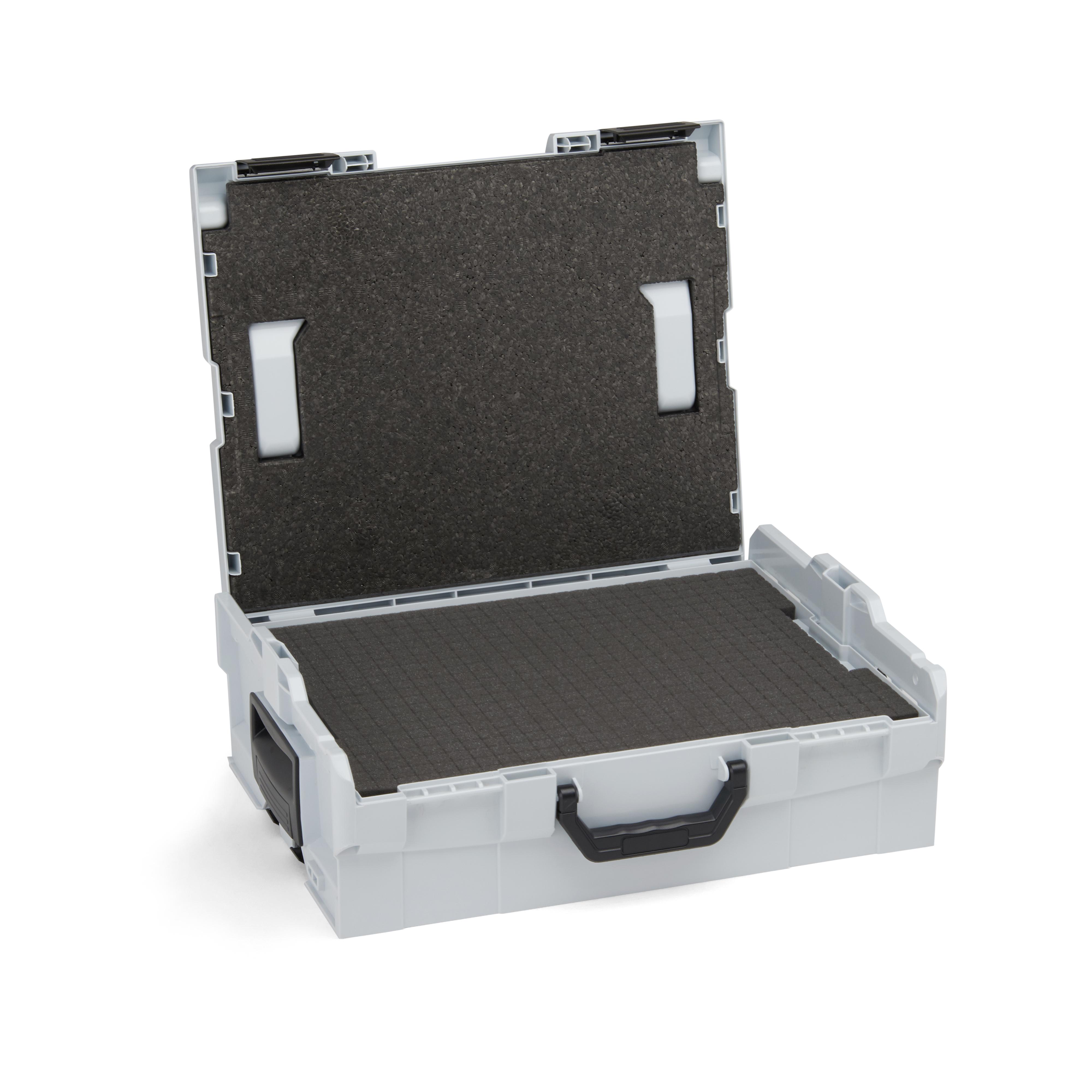 bosch sortimo l boxx 136 inklusive rasterschaumstoff und deckeleinlage. Black Bedroom Furniture Sets. Home Design Ideas