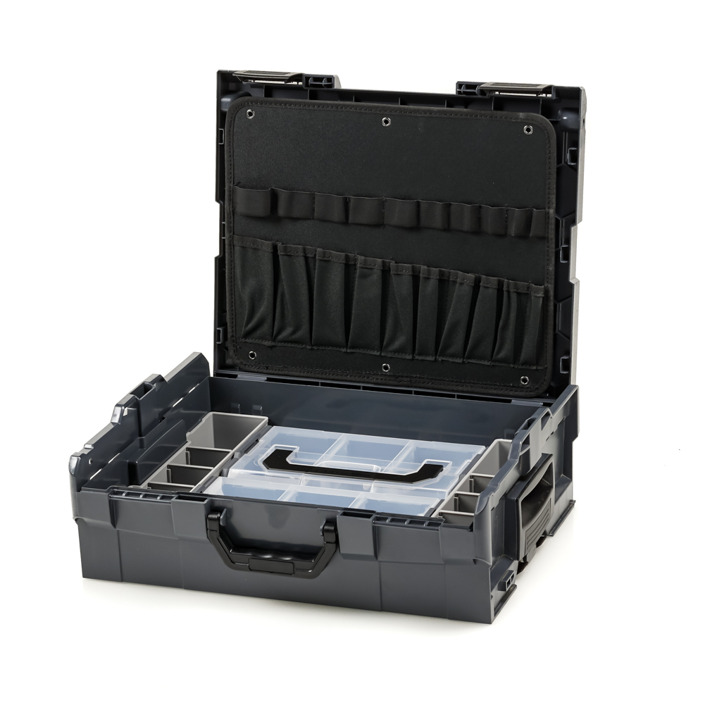 bosch sortimo l boxx 136 anthracite with tool card 1 and inset box set mini 4260339985447 ebay. Black Bedroom Furniture Sets. Home Design Ideas