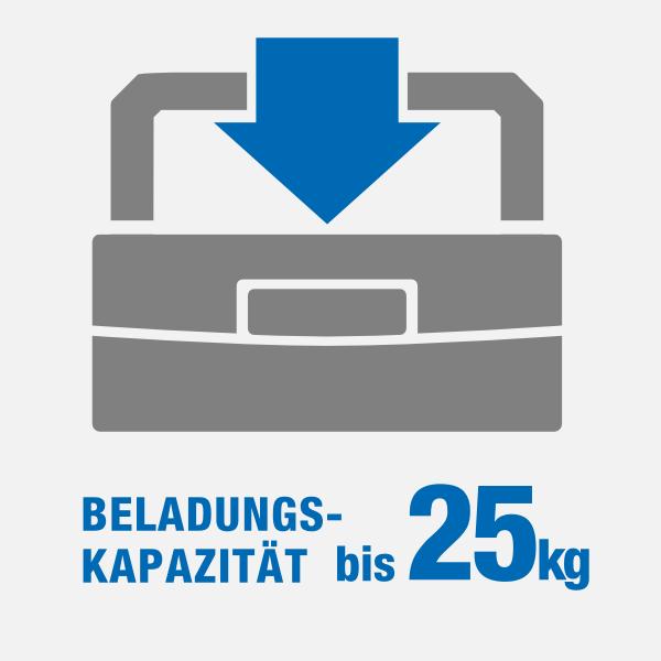 icon Beladungskapazitat bis 25kg